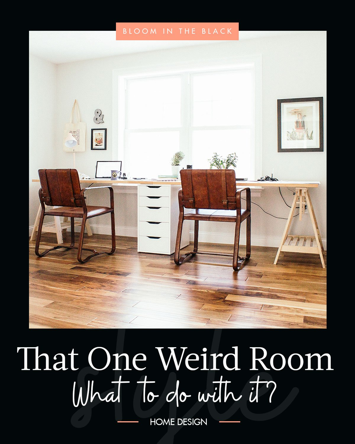 "Do you have a weird room? I would bet money that you do. I think almost every house has that one weird room or funky nook that doesn't immediately scream, ""I am ___________! Fill me with appropriate furniture please."" Our ""problem"" room is on its third iteration in only a year but I think we are finally on to something. Curious? Check out the full story on the blog. ______________ #furniturelayout #homedesign #kidsroom #hangoutroom"