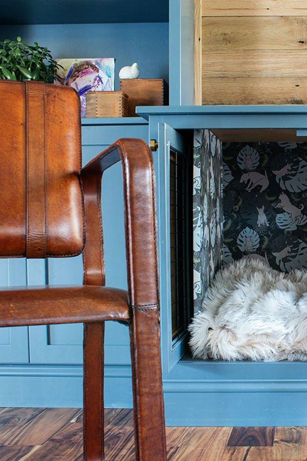 Built in dog den