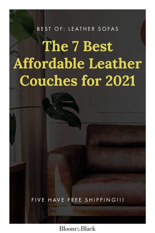 Looking for a leather couch for your living room but on a budget? Here are the 7 best affordable leather sofas for 2021, and most offer free shipping! There are classic tan, camel, and brown leather couches, as well as a few unusual choices in blue and green leather.