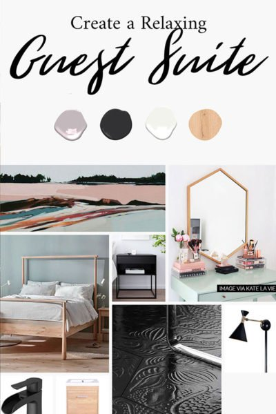 guest suite mood board