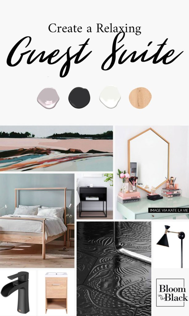 Do you want to create a relaxing, serene guest room in your home? Read on for ideas and a good starting point to create a retreat in your own home. You don't don't need an official guest suite -- any room could leverage these ideas! #guestroom #guestsuite #guestretreat #guestquarters