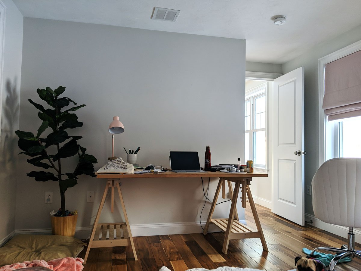 One Room Challenge Spring 2019 Week 1 Desk Before
