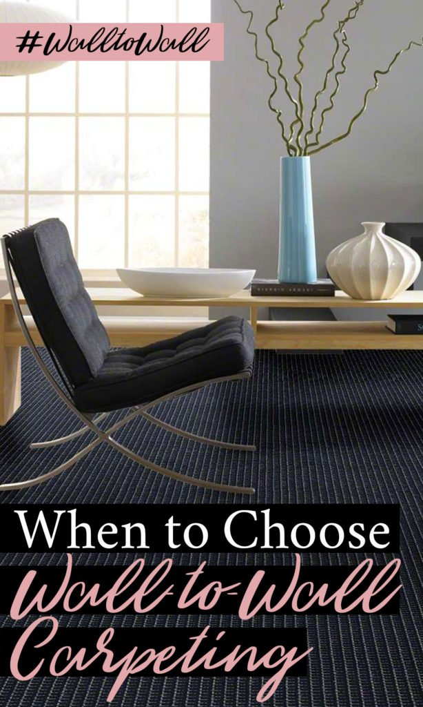 Is it ever best to choose wall-to-wall carpet? I used to think no but in the middle of finishing our basement we discovered that there actually are times where wall-to-wall carpet is the best flooring choice. Seriously! Here are the things to consider when deciding what floor covering to use. #walltowallcarpeting #flooring #finishedbasement