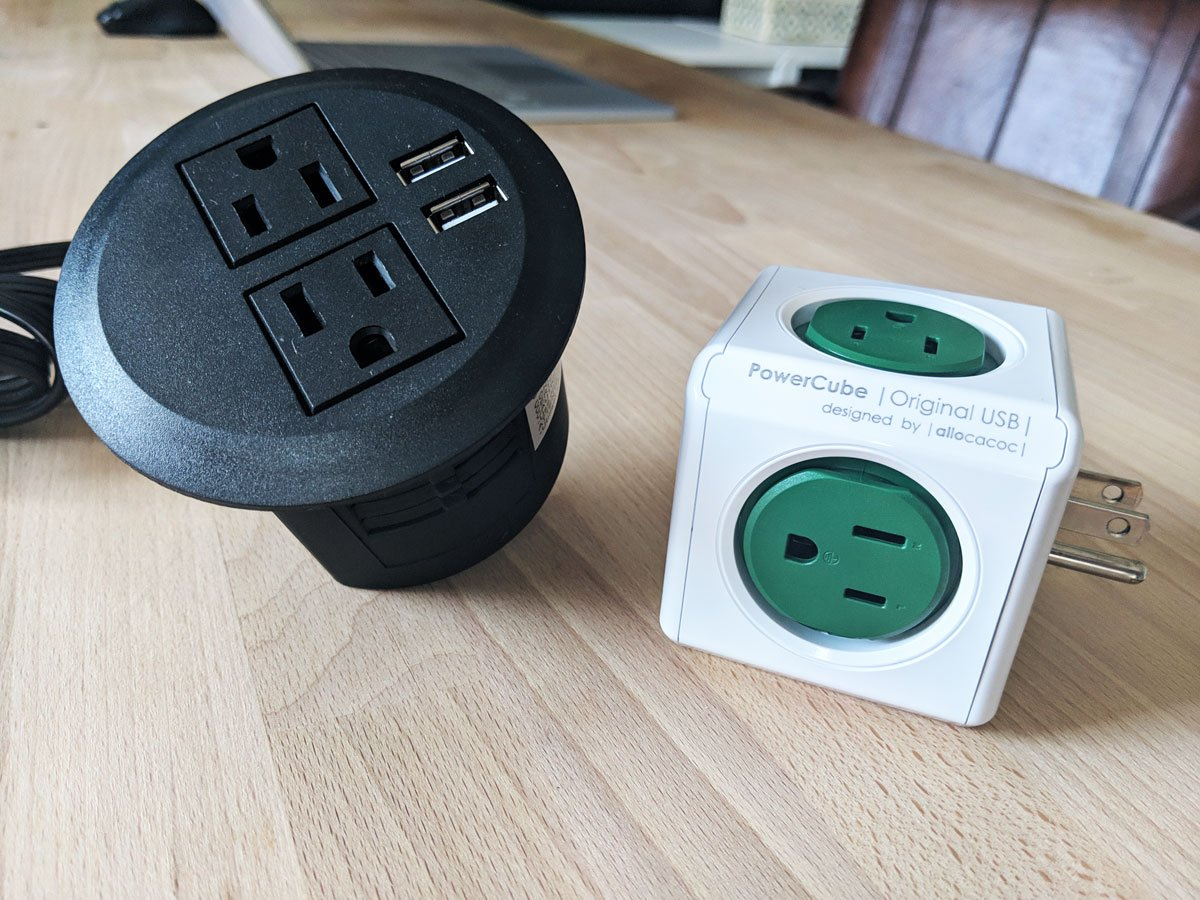 Graphic Home Office: One Room Challenge. Here are some essential workhorses that will be going into the office. We need tons and tons of plugs.