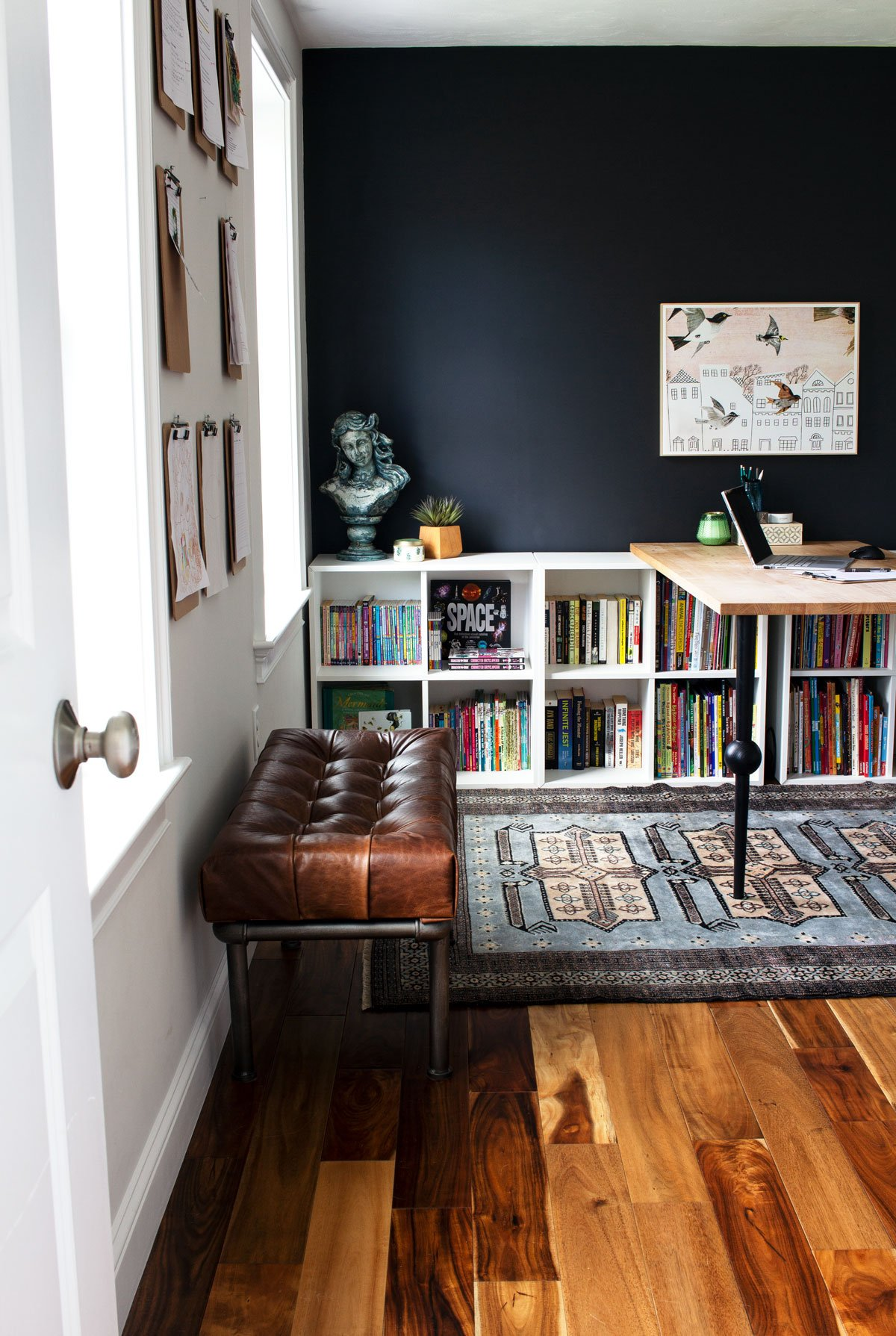 Before & After: A Sloppy Guest Room Turned Graphic Home Office
