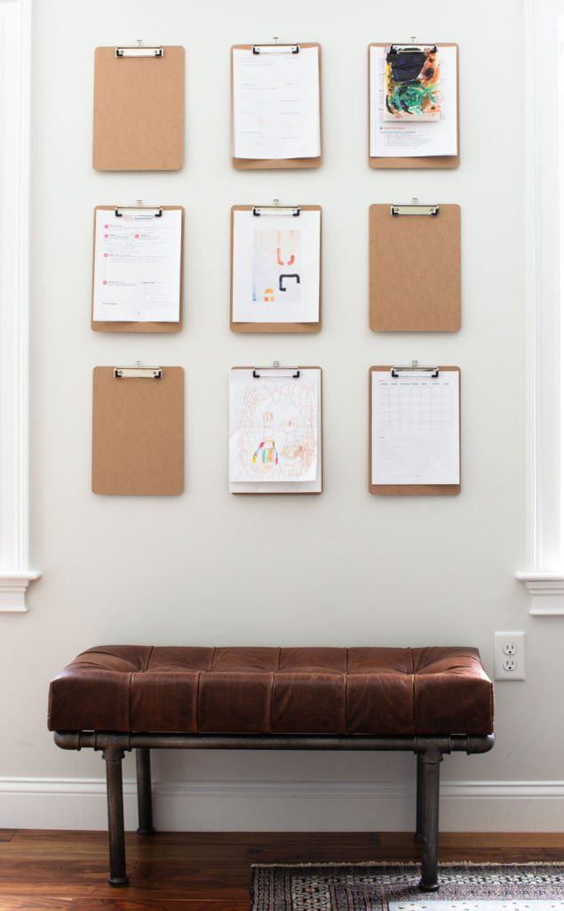 Graphic Home Office: One Room Challenge. This paper organization system is a game changer.