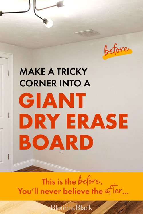 Learn to make a DIY whiteboard wall for your home office! This dry erase wall is also great for a kitchen command center, homeschool room, or a playroom. Get ideas on how to take this simple organization project beyond basic white with fun colors and wall murals. Also get answers to your most frequently asked questions about how to clean and care for your whiteboard wall.