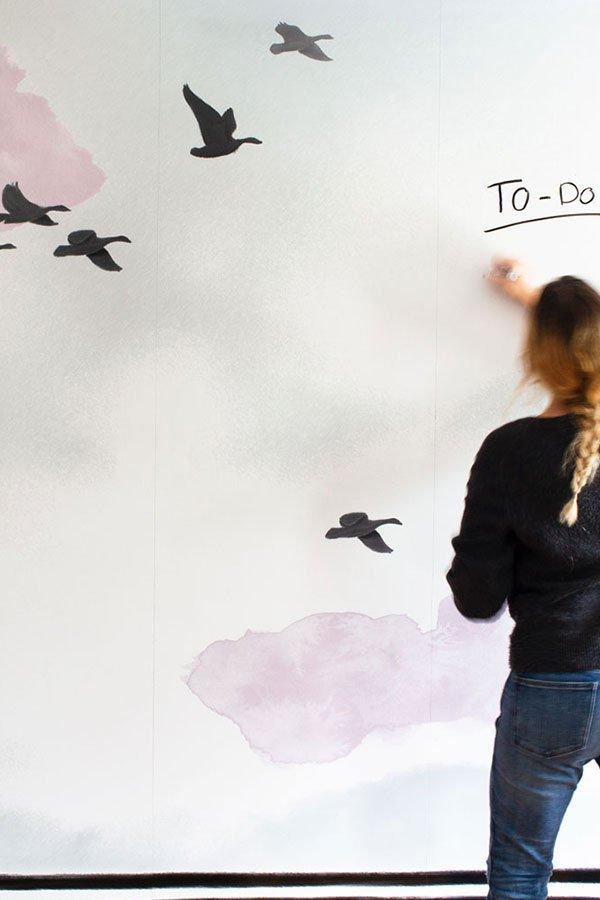 Whiteboard mural