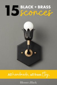 15 Beautiful Black and Brass Sconces That Will Transform Your Walls