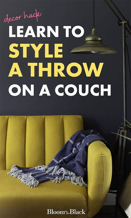Have you ever struggled with how to throw a throw blanket? With this ONE foolproof method you'll have perfectly draped blankets on your couch from now on. Learn to quickly style throw blankets in your living room.
