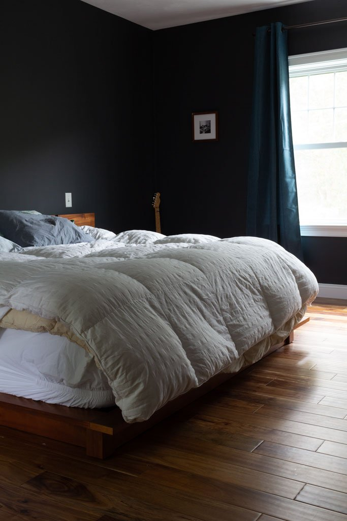 Moody master bedroom: Before