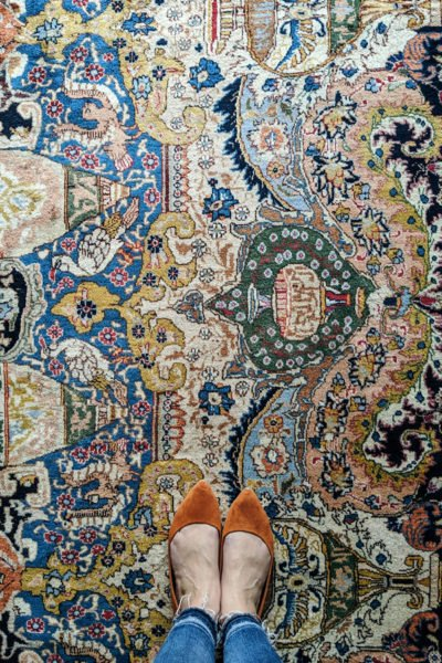 My gorgeous persian rug for my moody master bedroom