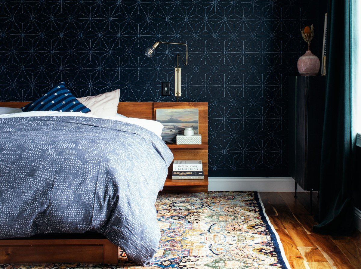 Dark and moody bedroom reveal