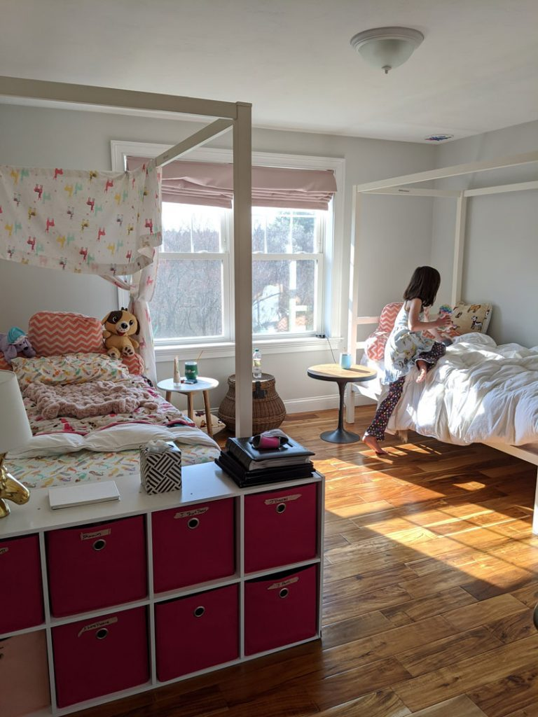 New shared bedroom layout.
