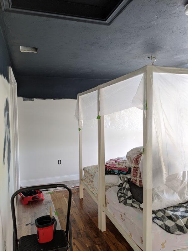 Painting the ceilings black
