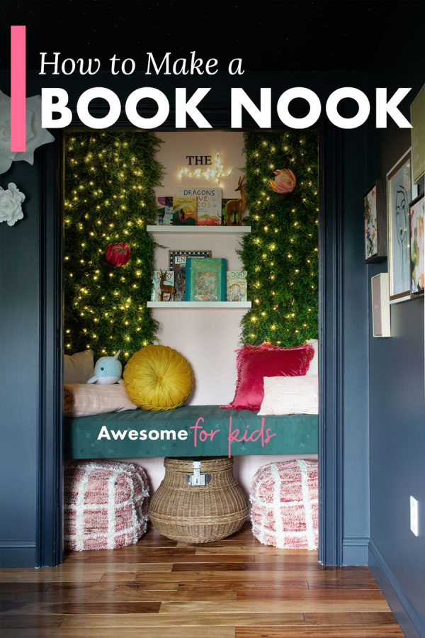 How to make a closet book nook for kids