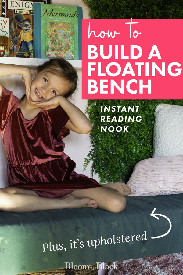 How to build a floating bench: pin it!