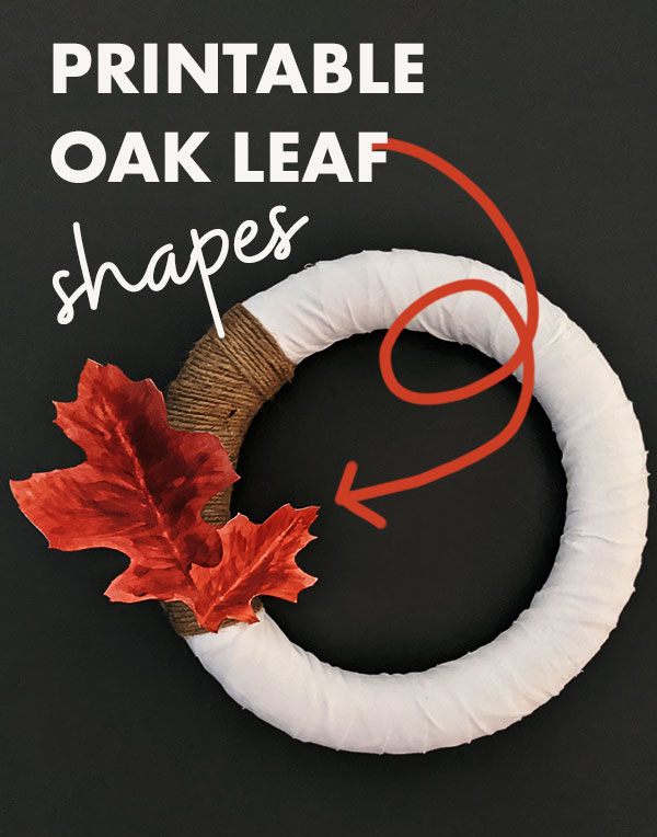 Download the free oak leaf printable