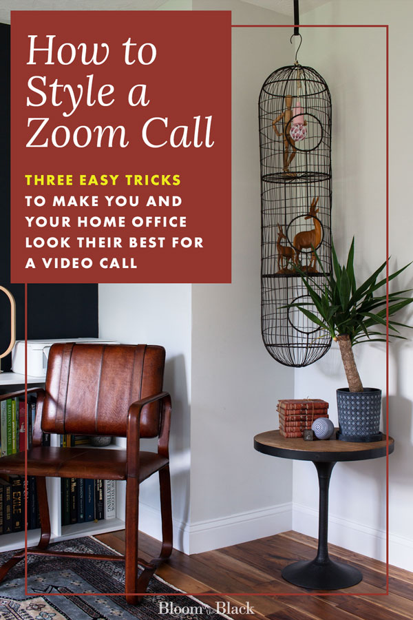 Ho Zoom calls are a basic part of working from home, homeschool, and remote learning now. But how do you style your space so you look look like your best most professional self? Here are three quick and easy tips to set-up your home office for the best video calls.