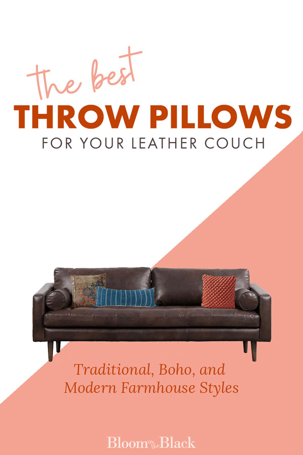 Throw Pillows For A Leather Couch, What Kind Of Throw Cushions For A Leather Sofa