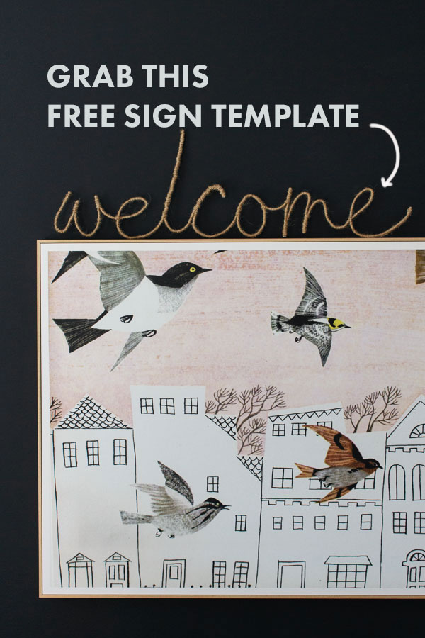 Download this free sign template