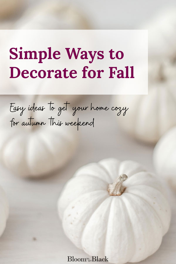 Do you like your fall decorating to be easy? Try this list of simple ideas to transition your home from summer to autumn decor. Get your home feeling cozy in no time. Scroll to the bottom for my top tip on not breaking the bank on pumpkins :)