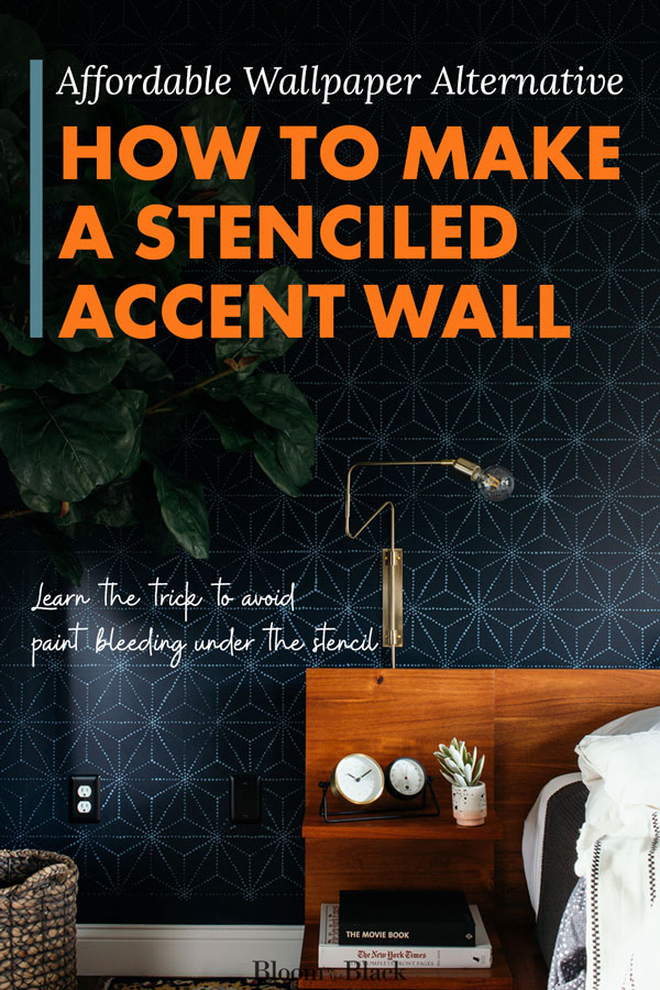 Create an accent wall in your bedroom, dining room, or living room without expensive wallpaper. Here's how to stencil an accent wall for 80% less than a full wall of wallpaper would cost. Learn the secret to avoid paint bleeding under the stencil.