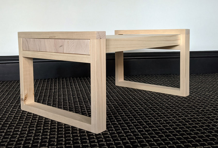 Here is the DIY laptop desk for your bed (or bed tray) before finishing.