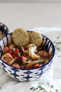 Easy Kielbasa Vegetable Soup: 5 Ingredients, 5 Minutes