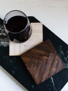 How to Make a Wood Mosaic Coaster (A High-End Popsicle Stick Craft)