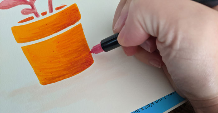 Add dots to your stencil art for texture.