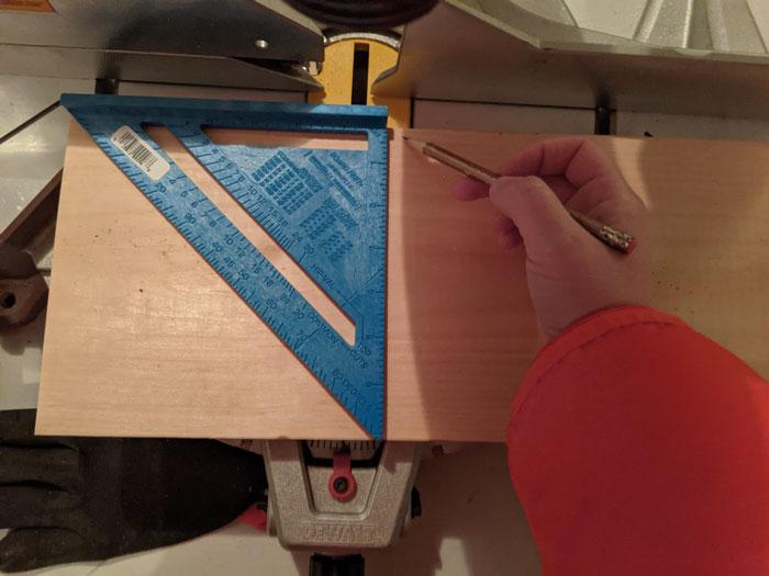 Cut 1 x 8 board into squares