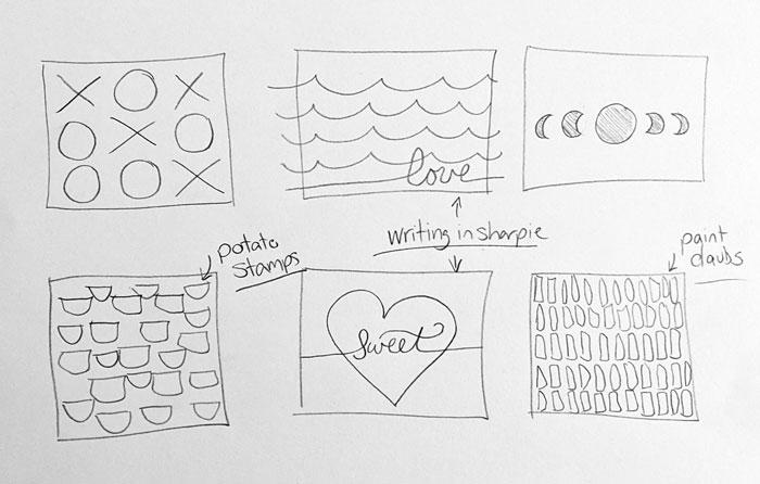 Valentines day wood block art design ideas