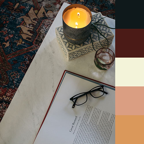 Completed color palette for your room!