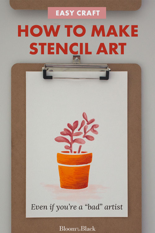 Use this easy stencil art idea to make artwork for your house -- even if you can't draw at all! For this craft project you can use a drawing stencil or even just a part of a wall stencil. This DIY is also a fun way to learn to blend colors.