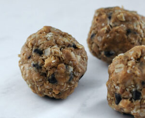 These chocolate chip peanut butter energy balls are satisfying and quick to make.