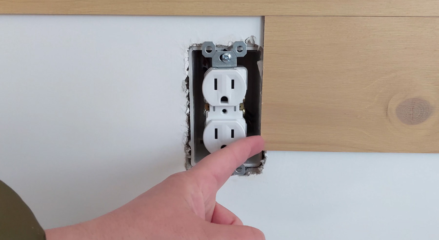 Cut boards around outlets and air vents
