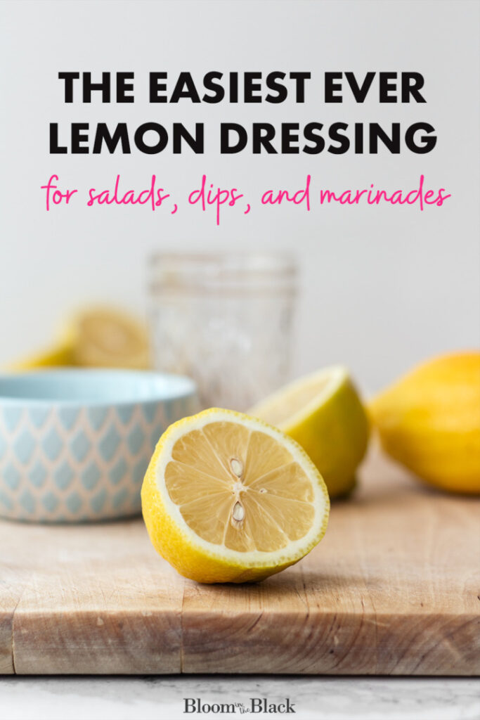 Try this light and creamy lemon dressing next time you need a simple side for a weeknight dinner. This homemade dressing has a bright tangy lemon flavor combined with savory garlic and parmesan. It's even a good french fry dip!