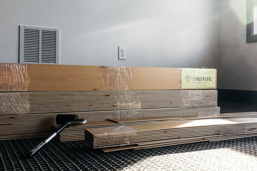 Acclimate your peel and stick Timberchic wood planks to the room they will be installed in