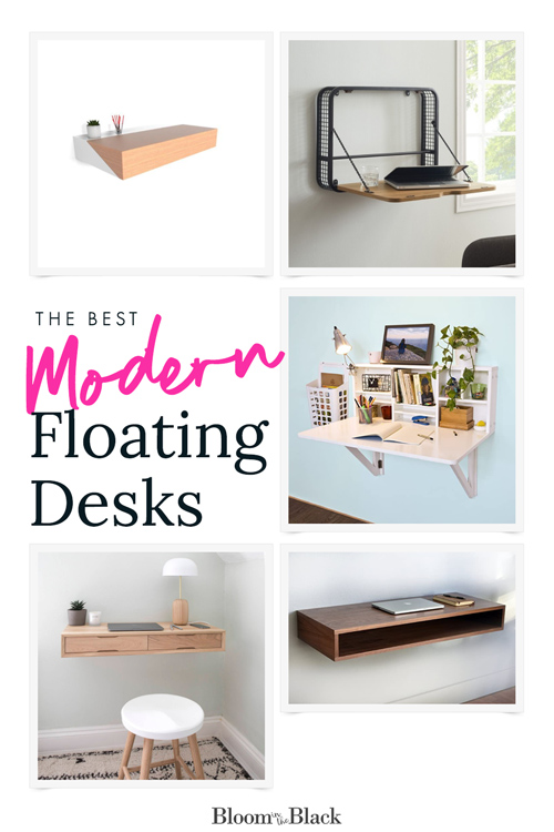 If you're short on work from home space a floating desk can be the perfect solution. I've rounded up my top 5 picks for floating desks. There are options for tiny wall-mounted desks and well as standard-sized floating desks with storage (some with drawers!). If you need desk ideas for your small home office, read on.