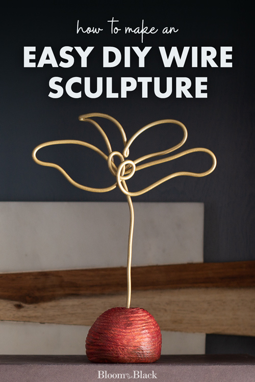This tutorial will show you how to make an easy DIY wire sculpture. This cheap DIY wire craft uses simple supplies and create high-end home decor on a budget. Wire art adds a modern touch to your room decor!