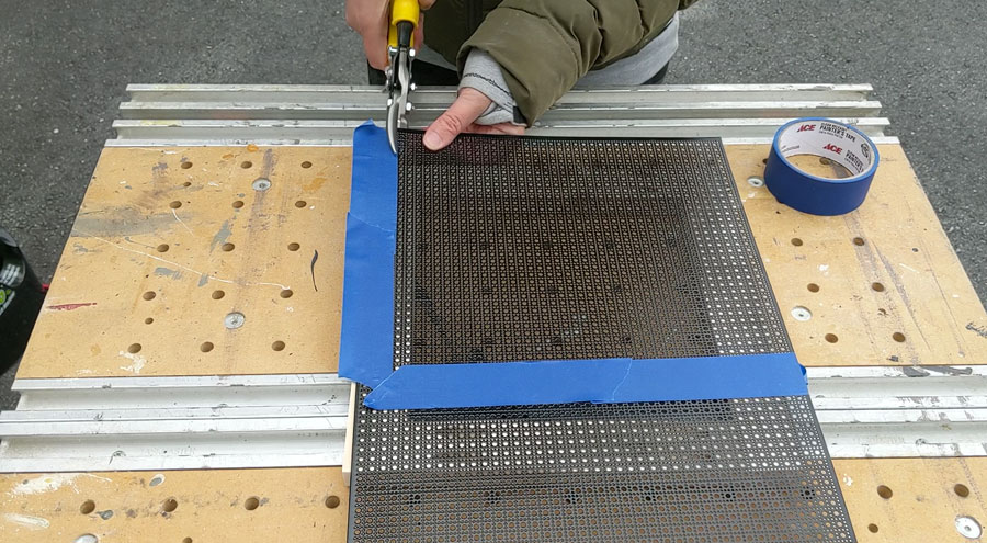 cut vent cover screen to fit the frame you built