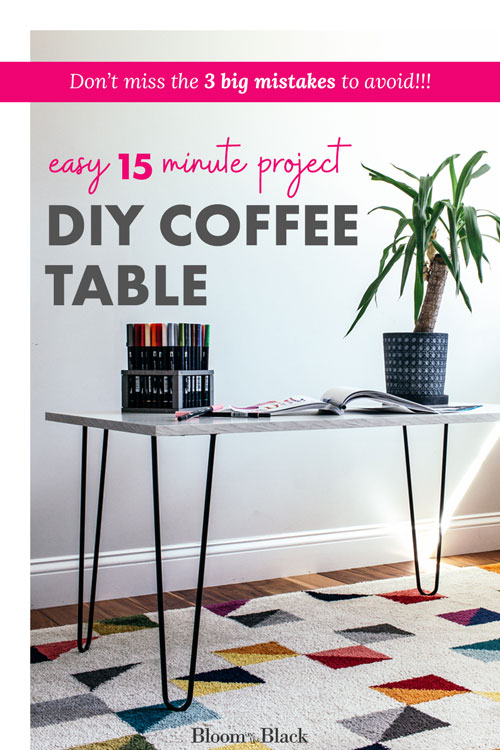 Learn to make a DIY hairpin leg coffee table by installing hairpin legs to a piece of laminate. Plus, learn the three biggest mistakes to avoid and the answers to all of your most frequently asked questions about making DIY furniture with hairpin legs.