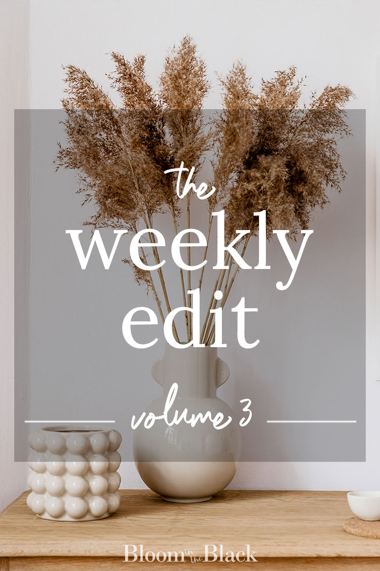 The Weekly Edit: Volum 3 from Bloom in the Black. Discover the best of the web in home decor, DIY, fashion, food, and lifestyle.