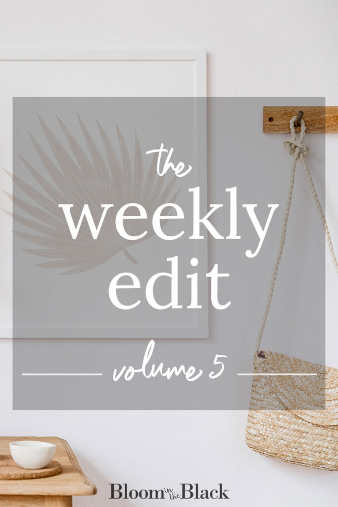 The Weekly Edit: Volume 5 from Bloom in the Black. Discover the best of the web in home decor, DIY, fashion, food, and lifestyle.