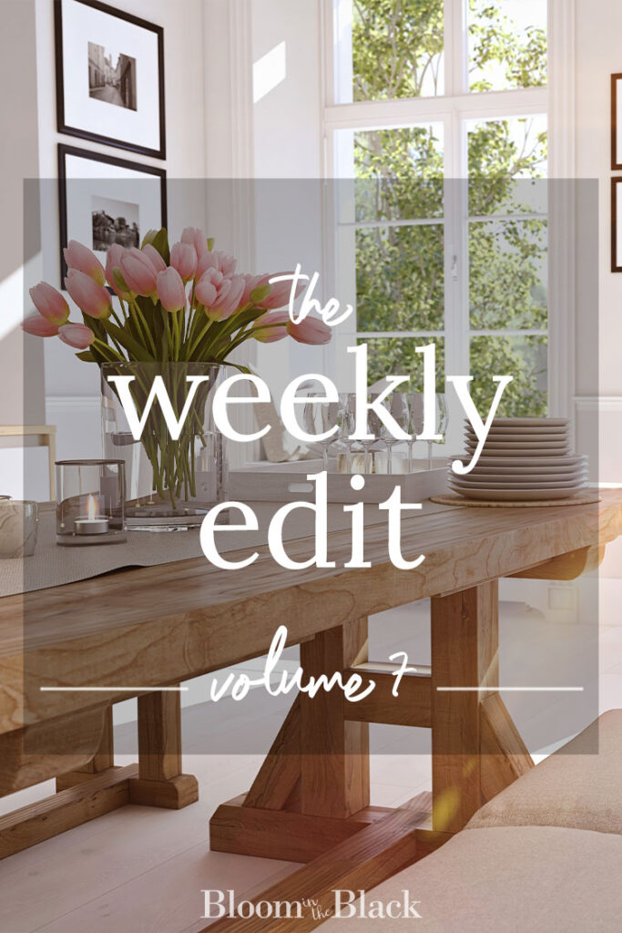 The Weekly Edit: Volume 7 from Bloom in the Black. Discover the best of the web in home decor, DIY, fashion, food, and lifestyle.
