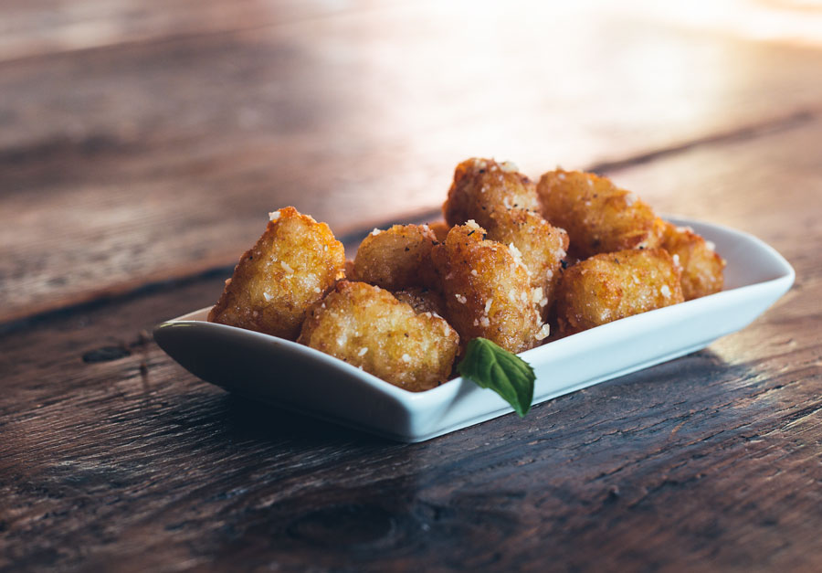 These truffle parmesan tater tots are an easy yet elegant side dish, appetizer, or snack.