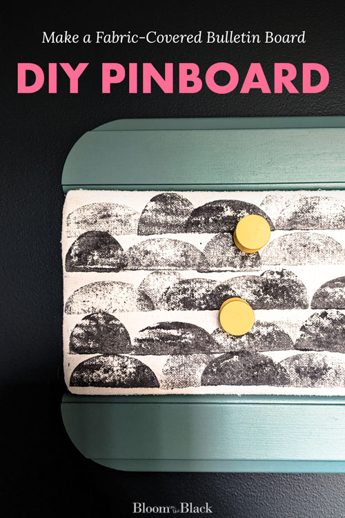 Learn to make a fabric covered bulletin board in the easy tutorial. A DIY pinboard makes the perfect vision board, family command center, mood board, or large wall decor piece. This notice board is made without using cork!