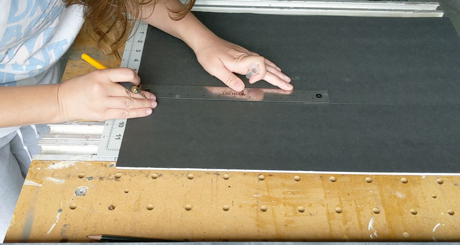 cut your foam board to the size of your bulletin board