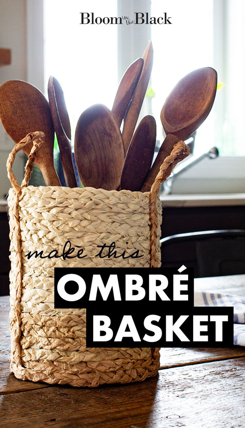 Learn to make an ombre basket with handles in this easy tutorial. This Dollar Tree DIY is perfect for boho decor, the the seagrass basket also works with coastal, transitional, and farmhouse styles.